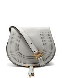 Chloé Blue Marcie Medium Saddle Bag
