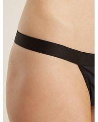 Negative Underwear - Black Sieve Mesh Thong - Lyst