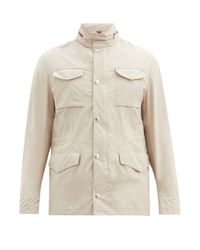 メンズ Brunello Cucinelli ジップアウェイフード ライトウェイトジャケット Natural