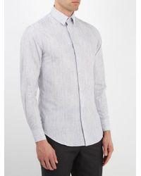 Giorgio Armani Multicolor Striped Cotton Shirt for men