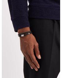 Miansai - Black Casing Braided Leather Bracelet for Men - Lyst
