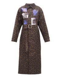 Raf Simons Animalier レオパード コート Multicolor