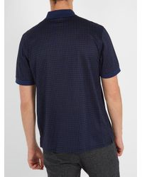 Brioni Blue Checked Cotton And Silk-blend Polo Shirt for men
