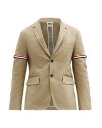 メンズ Thom Browne トリコロール コットンシングルジャケット Multicolor