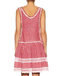 Dodo Bar Or - Red Fatima Eyelet-embellished Cotton Dress - Lyst