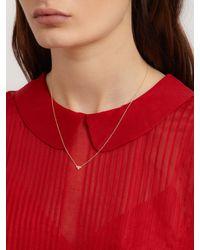 Ileana Makri - Metallic Diamond & Yellow-gold Necklace - Lyst