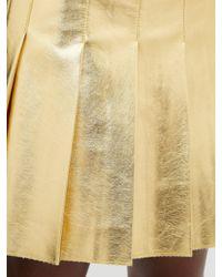 MSGM フェイクレザー プリーツミニスカート Multicolor