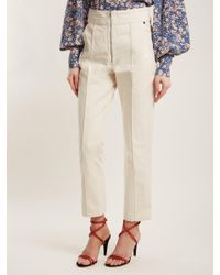 Isabel Marant - Natural Namiris High-rise Straight-leg Trousers - Lyst