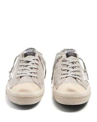 Golden Goose Deluxe Brand Gray V-star Low-top Suede Trainers for men
