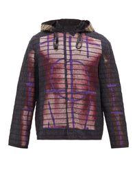 メンズ Craig Green ボディプリント コットン フーデッドジャケット Multicolor