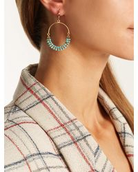 Isabel Marant Green Tropical Beaded-earrings
