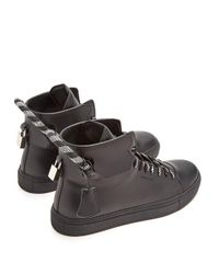 Buscemi Black 125mm Corda High-top Leather Trainers for men