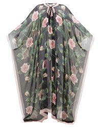 Dolce & Gabbana ローズ シルクシフォンカフタン Multicolor