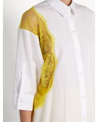 N°21 White Cotton Button Up Shirt With Lace Details