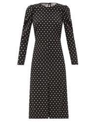 RED Valentino Black Open-back Polka-dot Crepe Dress