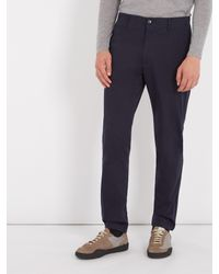 Acne | Blue Ayan Satin Cotton-blend Chino Trousers for Men | Lyst