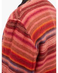 メンズ Greg Lauren パッチワーク アルパカブレンドジャケット Multicolor