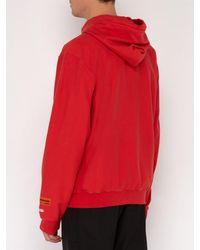 Sweat-shirt zippé à capuche et logo Heron Preston pour homme en coloris Red