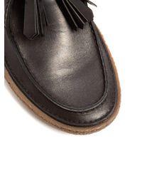 Prada - Black Raised-sole Leather Desert Boots for Men - Lyst