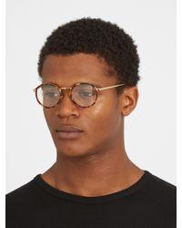 Linda Farrow Metallic Round-frame Yellow-gold Plated Glasses for men
