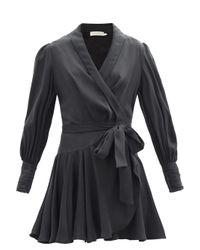 Zimmermann シルクラップドレス Black