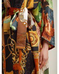 Rianna + Nina - Multicolor Vintage Patchwork Silk Kimono Jacket - Lyst
