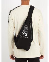 Y-3 Black Logo-print Neoprene Backpack for men