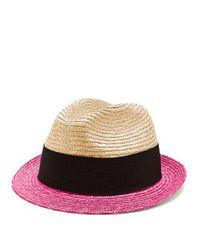 Prada Pink Bi-colour Straw Hat