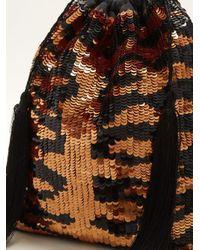 Attico - Multicolor Tiger Sequined Pouch - Lyst