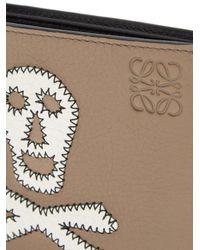 Loewe Multicolor Skull-patch Leather Bi-fold Wallet for men
