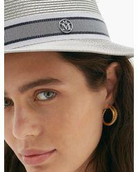 Chapeau de paille Andre Maison Michel en coloris Gray