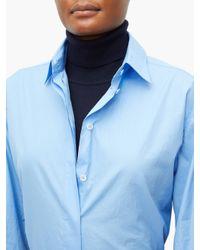 The Row ビッグ シセア ポプリンシャツ Blue