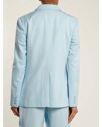 Tibi Blue Twill Blazer