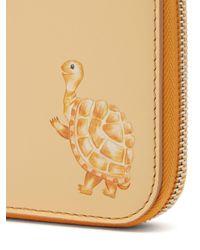 Acne Yellow Tortoise-print Leather Wallet