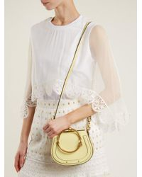 Chloé Yellow Nile Small Leather And Suede Cross-body Bag