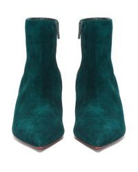 Christian Louboutin So Kate スエードブーツ 55 Green