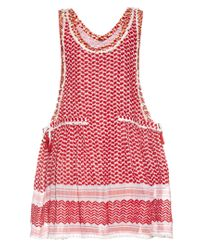 Dodo Bar Or | Red Fatima Eyelet-embellished Cotton Dress | Lyst