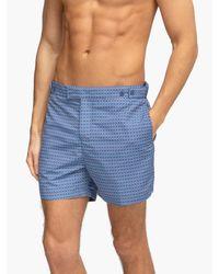 Short de bain ajusté à imprimé Ipanema Frescobol Carioca pour homme en coloris Blue