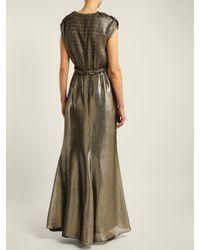 Robe Bacio Max Mara en coloris Metallic
