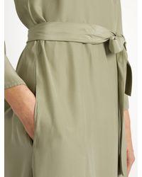 Rhode Resort Green Stella Silk-satin Wrap Dress