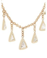 Jacquie Aiche - Metallic Diamond & Yellow-gold Necklace - Lyst