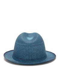 メンズ Guanabana ジオメトリック ストローパナマハット Blue