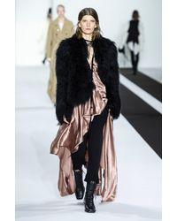 Pantalon ajusté en cuir Ann Demeulemeester en coloris Black