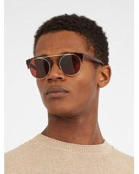 Kaleos - Brown Sear Acetate And Metal Sunglasses for Men - Lyst