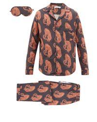 メンズ Desmond & Dempsey サンシンド タイガー パジャマ&アイマスク Multicolor