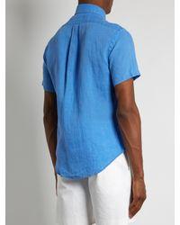 Polo Ralph Lauren - Blue Short-sleeved Linen Shirt for Men - Lyst