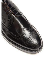 Church's - Black Opal Leather Flatform Brogues - Lyst