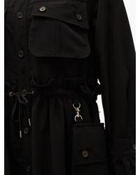 Noir Kei Ninomiya ドローストリングシャツドレス Black