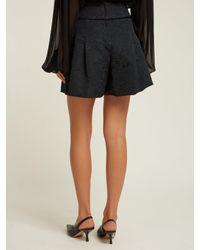Dolce & Gabbana - Black High-rise Floral-jacquard Shorts - Lyst