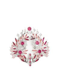 Givenchy - Pink Crystal-embellished Brooch - Lyst